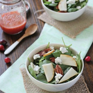Spinach Salad with Fresh Cranberry Vinaigrette | Cookie Monster Cooking