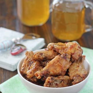 Baked Honey Chipotle Chicken Wings