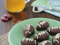 Oreo Football Truffles | cookiemonstercooking.com