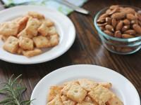 Rosemary and Gruyere Crisps | cookiemonstercooking.com