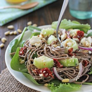 Soba Noodle and Pine Nut Salad