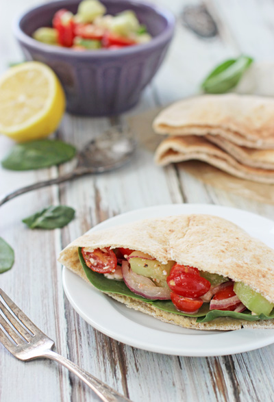 Greek Pita Pockets Cook Nourish Bliss