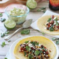 Crockpot Barley and Bean Tacos