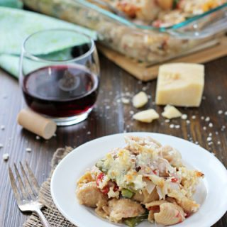 Baked Asparagus and Mushroom Pasta | cookiemonstercooking.com