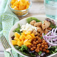 Chicken, Chickpea and Mango Salad
