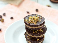 Dark Chocolate and Pistachio Almond Butter Cups | cookiemonstercooking.com