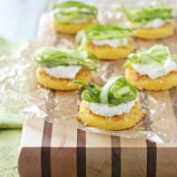 Polenta Bites with Ricotta and Shaved Asparagus