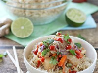 Thai Chicken Bowls | cookiemonstercooking.com