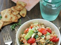 Greek Farro Salad | cookiemonstercooking.com