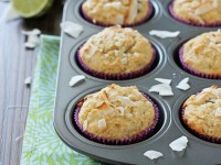 Lime, Dark Chocolate and Coconut Muffins | cookiemonstercooking.com