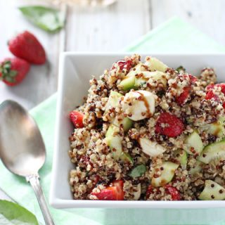 Strawberry Quinoa Balsamic Salad