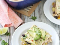 Vegetable Enchilada Casserole with Salsa Verde | cookiemonstercooking.com