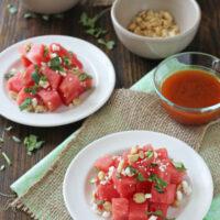 Watermelon Salad with Sriracha Vinaigrette