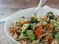Citrusy Quinoa Cashew Chicken and Broccoli | cookiemonstercooking.com