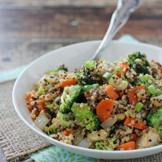 Citrusy Quinoa Cashew Chicken and Broccoli
