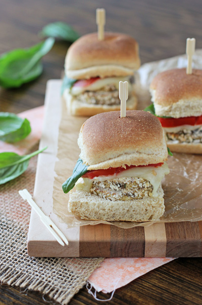 Crispy Eggplant Sliders | cookiemonstercooking.com