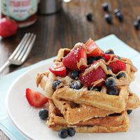 Almond Butter and Jelly Waffles