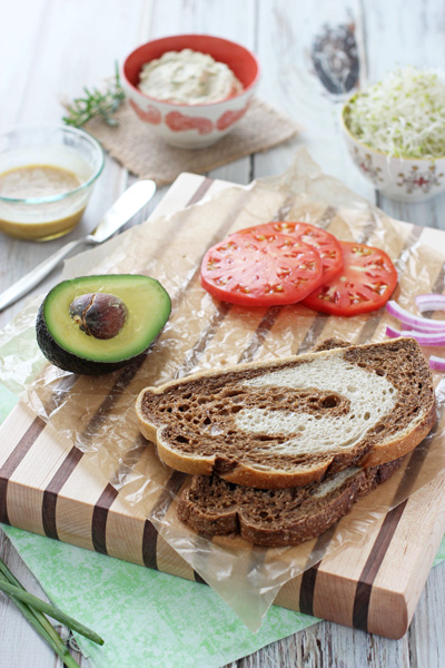 Fresh Herb White Bean and Avocado Sandwich | cookiemonstercooking.com