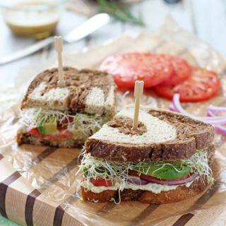 Fresh Herb White Bean and Avocado Sandwich | cookiemonstercooking.com