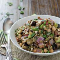 Mediterranean Chickpea and Lentil Salad