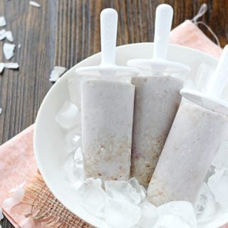 Raspberry Coconut Tart Popsicles