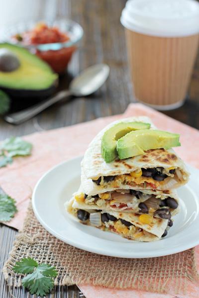 Make-Ahead Veggie Breakfast Quesadillas
