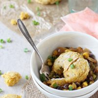 Mexican Pot Pie with Sweet Potato Biscuits