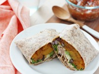 Butternut Squash Burritos with Black Beans and Kale