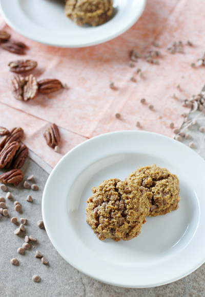 Cinnamon Chip Pumpkin Pecan Cookies | cookiemonstercooking.com