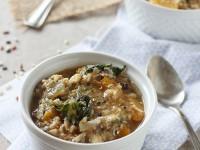 Crockpot Chicken, Wild Rice and Butternut Squash Soup | cookiemonstercooking.com