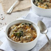 Crockpot Chicken, Wild Rice and Butternut Squash Soup
