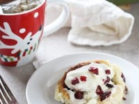Cranberry Bliss Cinnamon Rolls | cookiemonstercooking.com