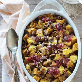 Cranberry Pumpkin Breakfast Bake | cookiemonstercooking.com