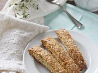 Lemon Thyme Biscotti | cookiemonstercooking.com