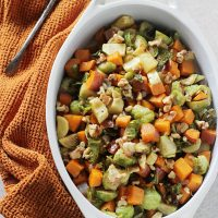 Maple Roasted Vegetables with Toasted Walnuts