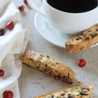 Cranberry Pistachio Dark Chocolate Biscotti