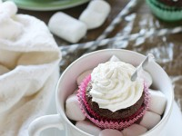 Hot Chocolate Almond Flour Cupcakes | cookiemonstercooking.com