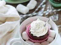 Hot Chocolate Almond Flour Cupcakes | cookiemonstercooking.com