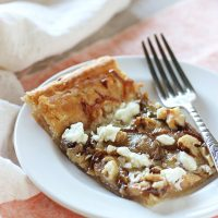 Pear, Walnut and Goat Cheese Tart