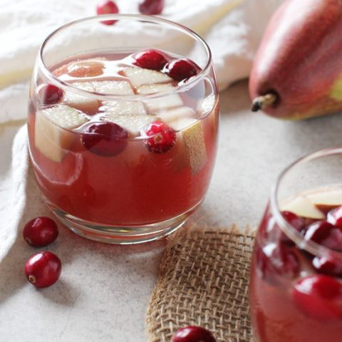 Sparkling Winter Champagne Sangria