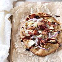 Bacon, Brie and Pear Flatbreads