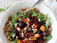 Farro Meal Bowls with Roasted Beets | cookiemonstercooking.com
