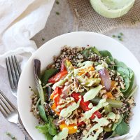 Rainbow Roasted Vegetable Quinoa Salad