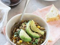 White Bean Salsa Verde Chili with Lentils and Quinoa | cookiemonstercooking.com