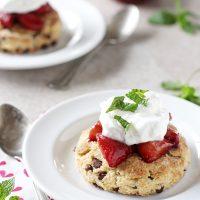Chocolate Chip Roasted Strawberry Shortcakes