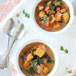 Creamy Sweet Potato and Swiss Chard Soup