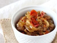 Slow Cooker Caramelized Onions and Peppers | cookiemonstercooking.com