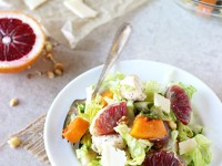 Winter Roasted Veggie and Chicken Chopped Salad | cookiemonstercooking.com