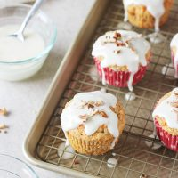 Carrot Cake Muffins with Mascarpone Glaze