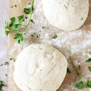 Herbed Whole Grain Pizza Dough | cookiemonstercooking.com